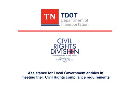 TDOT Civil Rights Office Small Business Development Program