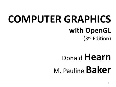 Computer Graphics Introduction - ppt video online download