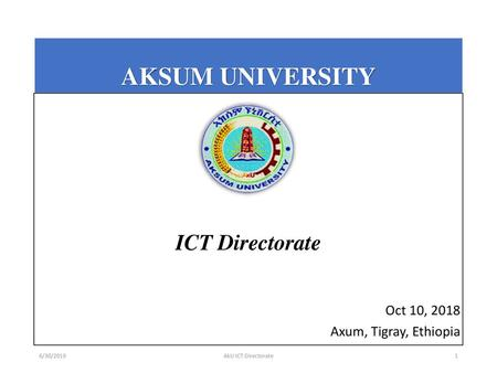 Aksum University Login