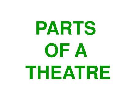 Happy Thursday Theatre Tech! - ppt video online download