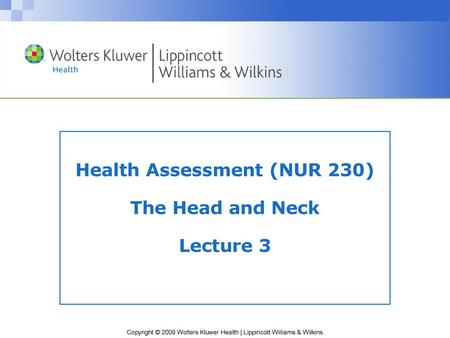 Chapter 31 Health Assessment and Physical Examination - ppt