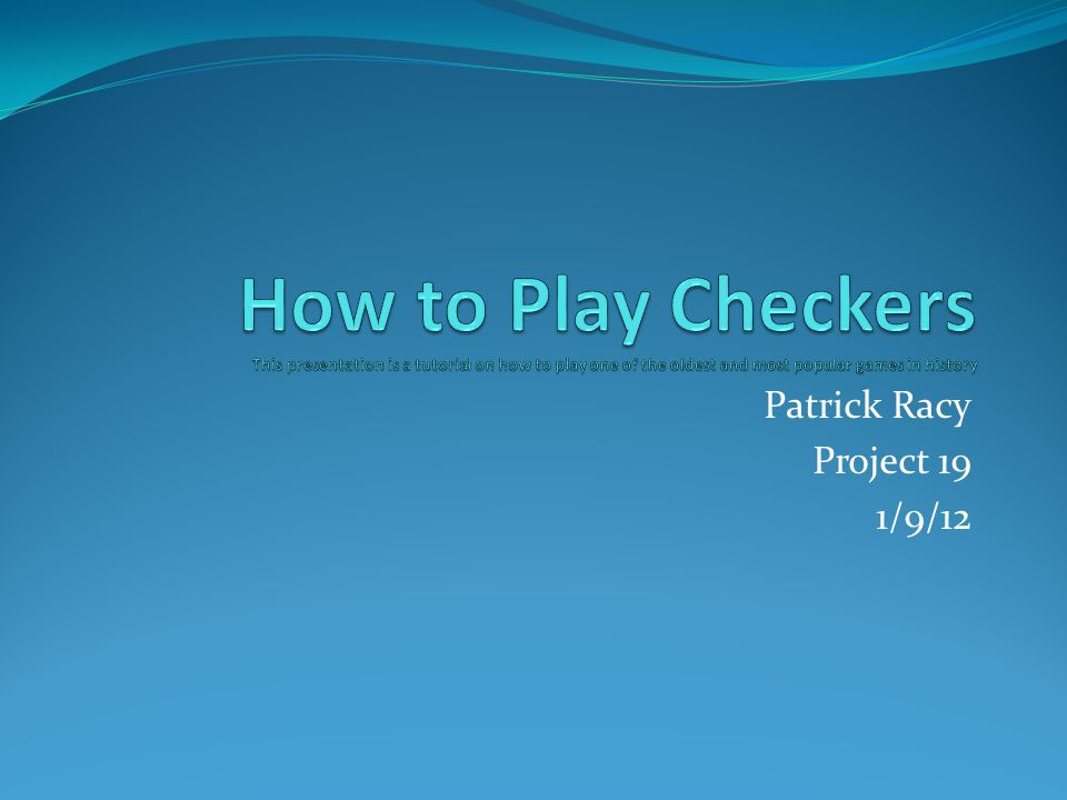 Patrick Racy Project 19 1 9 12