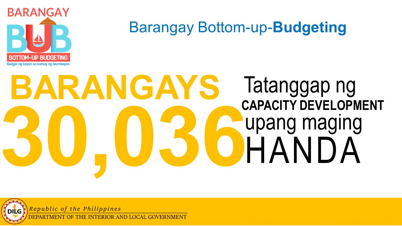 Bottom-up-Budgeting (BUB) for Barangays - ppt video online