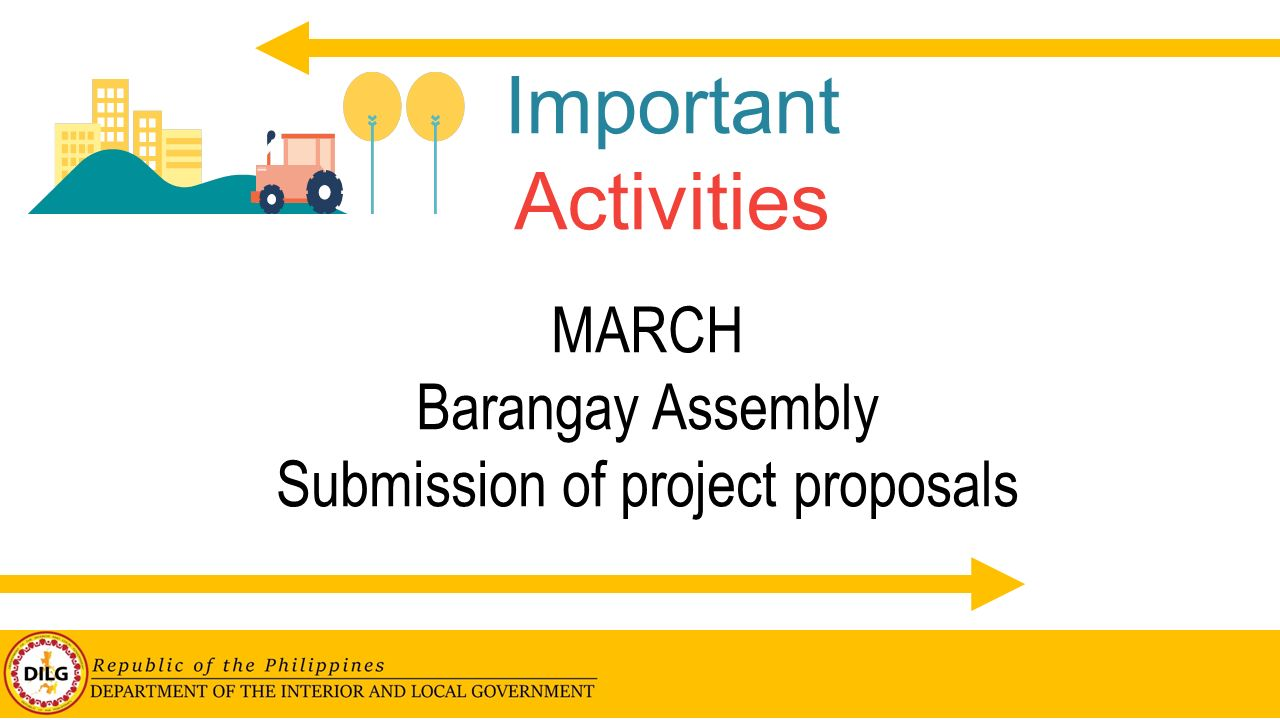 Submission of project proposals