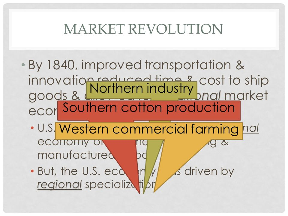 frq market revolution 3 frq 3 due 10/3/2014 analyze the reasons for anti-federalists' opposition to ratifying the constitution 4 frq 4 due 10/17/2014 analyze the impact of the market revolution (1815-1860) on the economies of two of the following regions: the northeast, the midwest, the south 5.