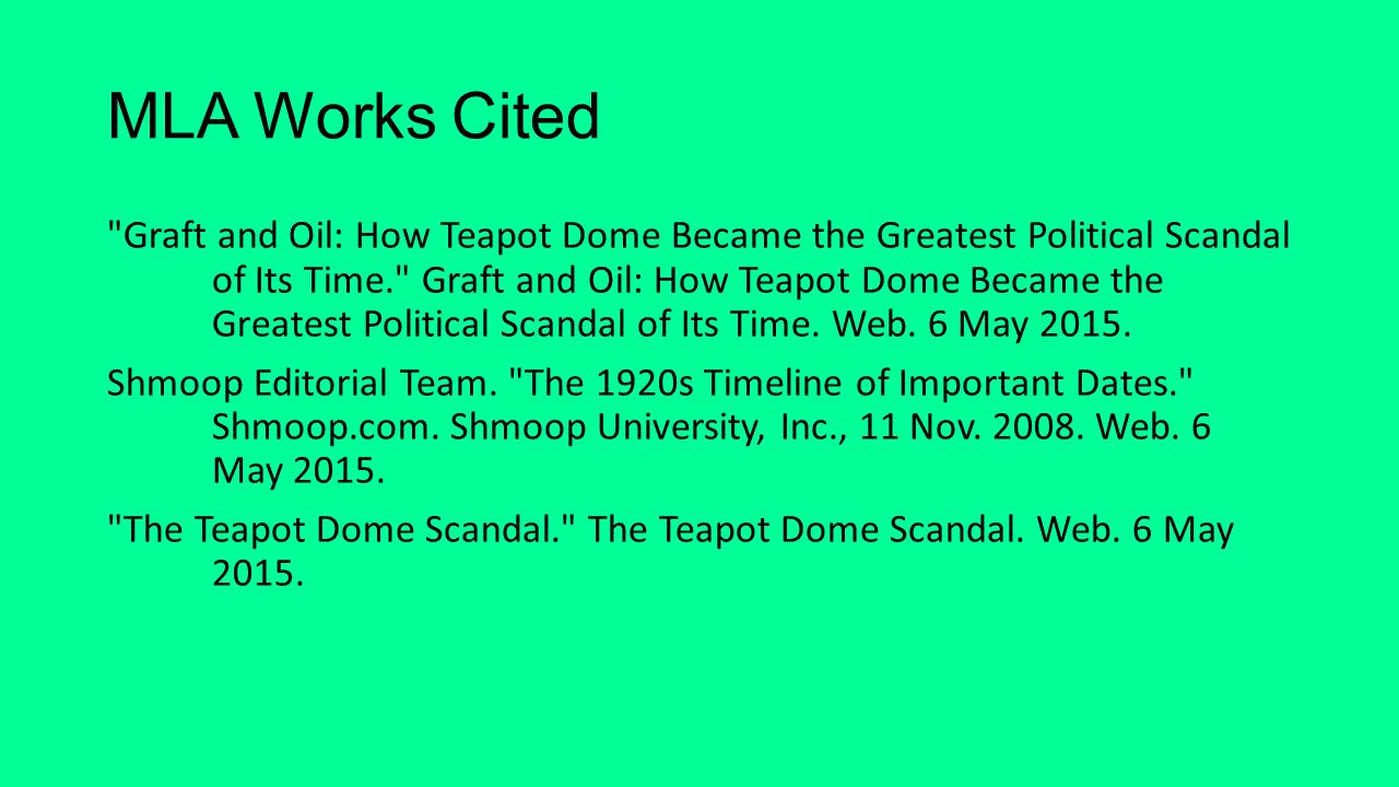 Teapot Dome Scandal By Sydney Taylor Ppt Video Online Download