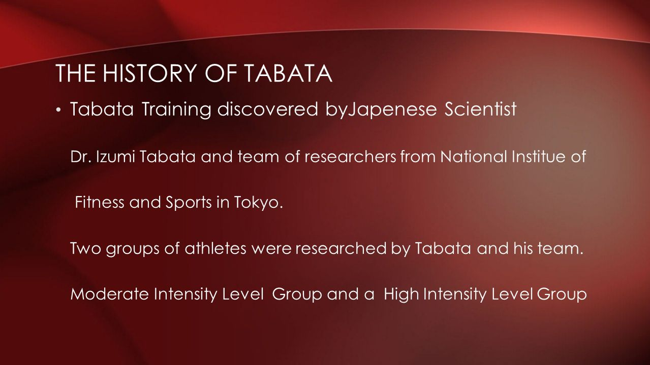 Hiit High Intensity Interval Training Ppt Video Online Download Workouts Timers For Tabata And Circuit Are Included The History Of Discovered Byjapenese Scientist