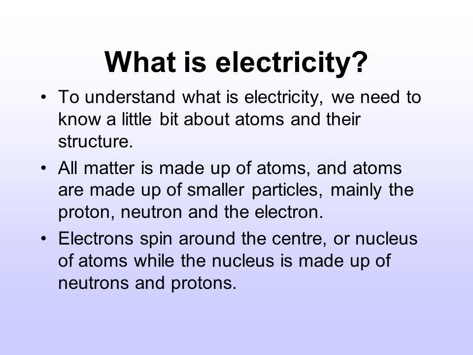 SYSTEMS : ELECTRICITY. - ppt download