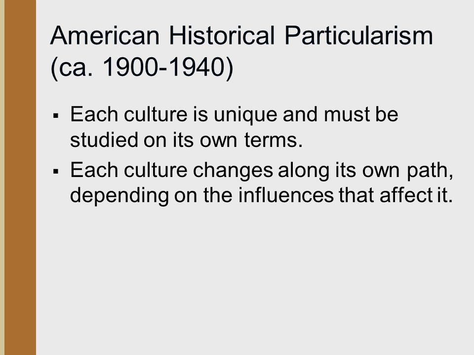 historical particularism definition
