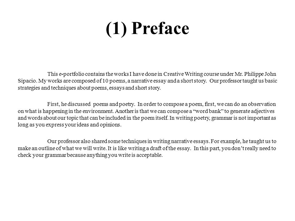 E Portfolio In Creative Writing Ppt Video Online Download