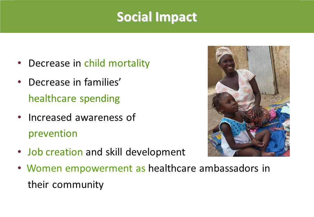 Social Impact Decrease in child mortality