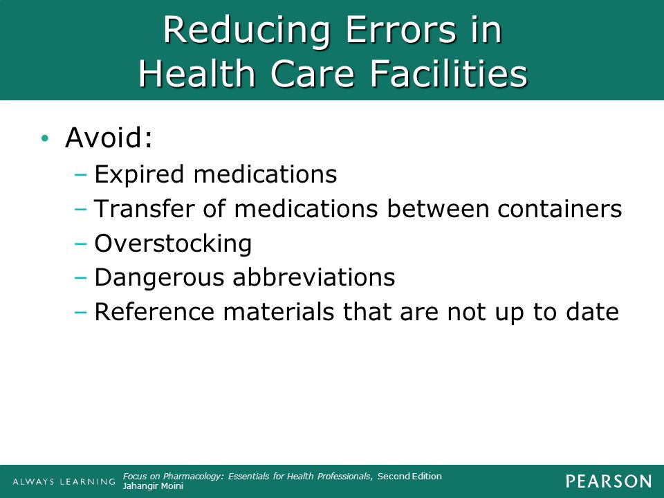 Reducing Errors in Health Care Facilities