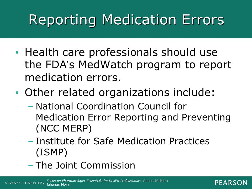 Reporting Medication Errors