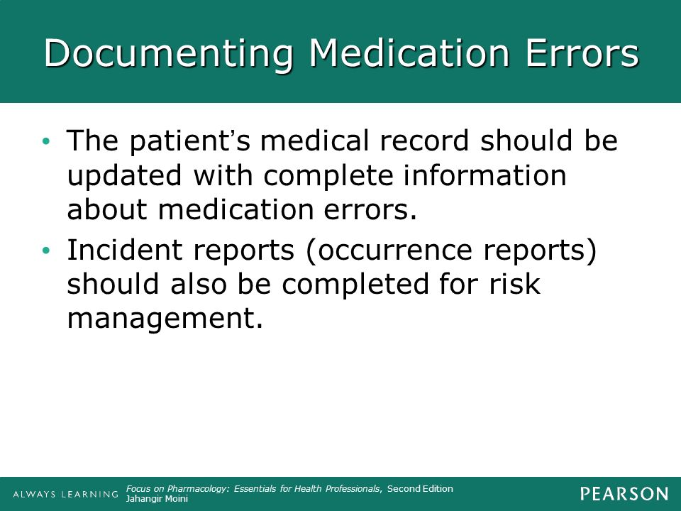 Documenting Medication Errors