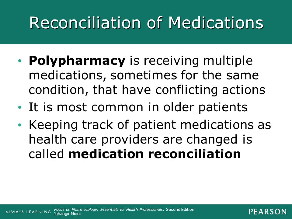 Reconciliation of Medications