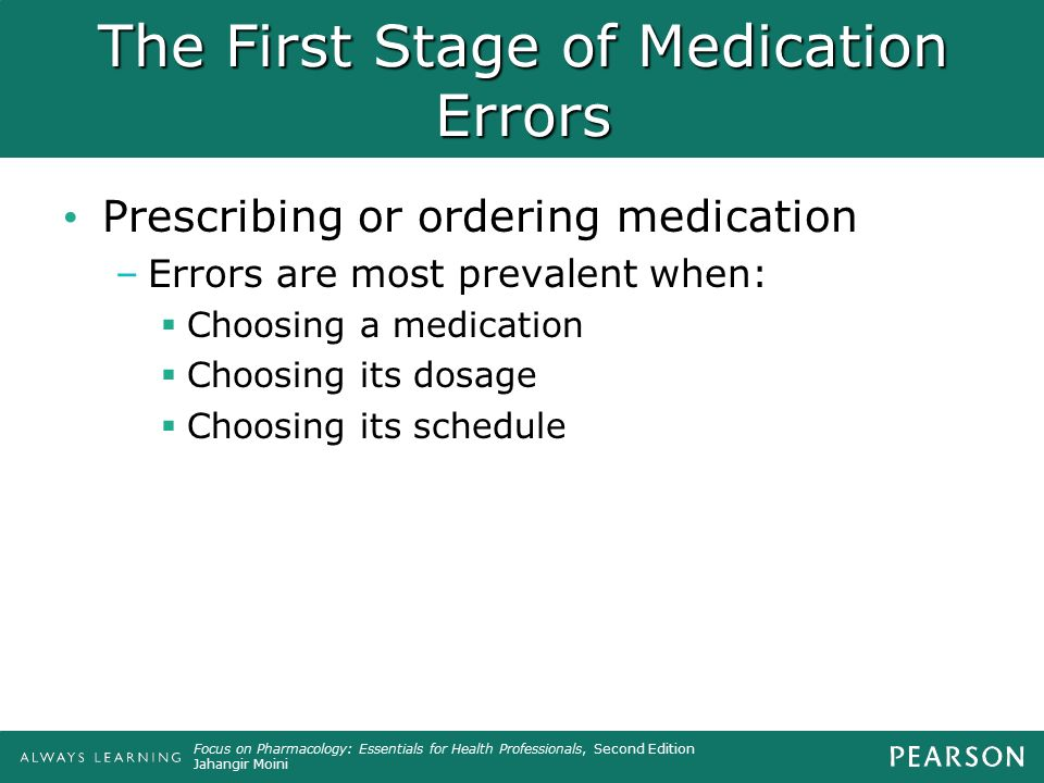 The First Stage of Medication Errors