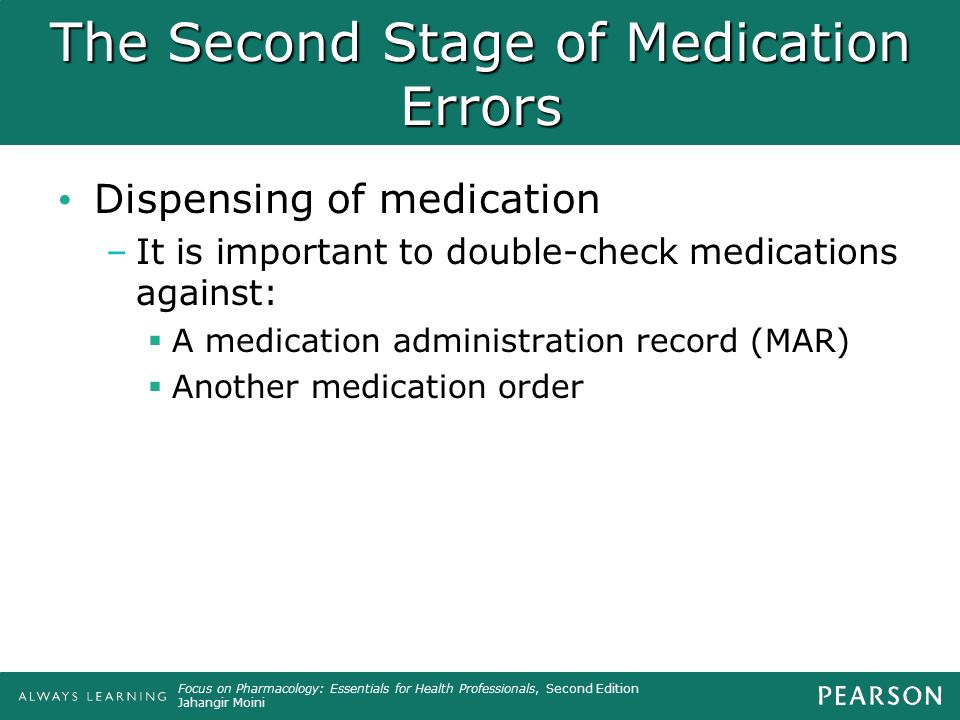 The Second Stage of Medication Errors