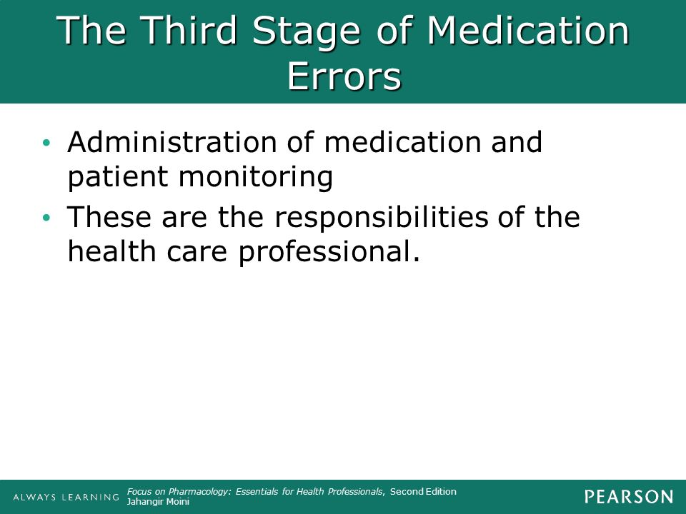 The Third Stage of Medication Errors