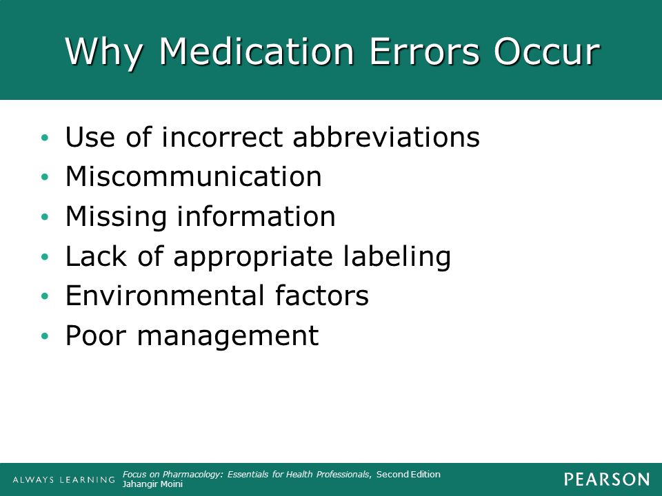 Why Medication Errors Occur