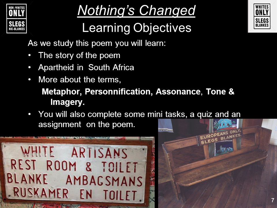 apartheid poem nothings changed