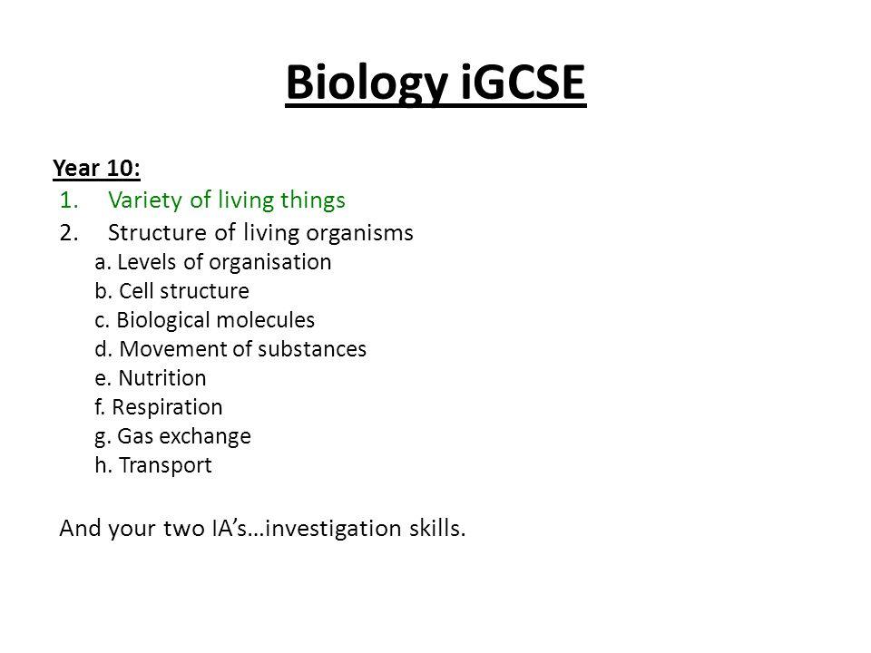 IGCSE Biology  - ppt download