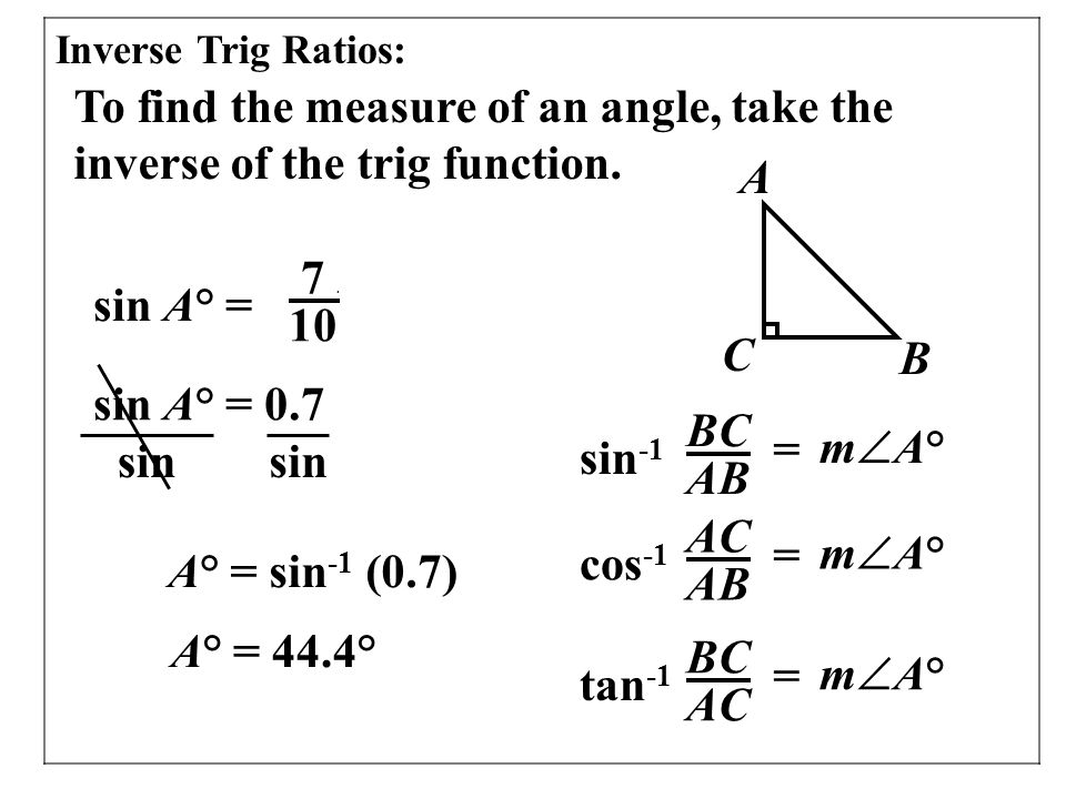 7 7 Solve Right Triangles Ppt Video Online Download