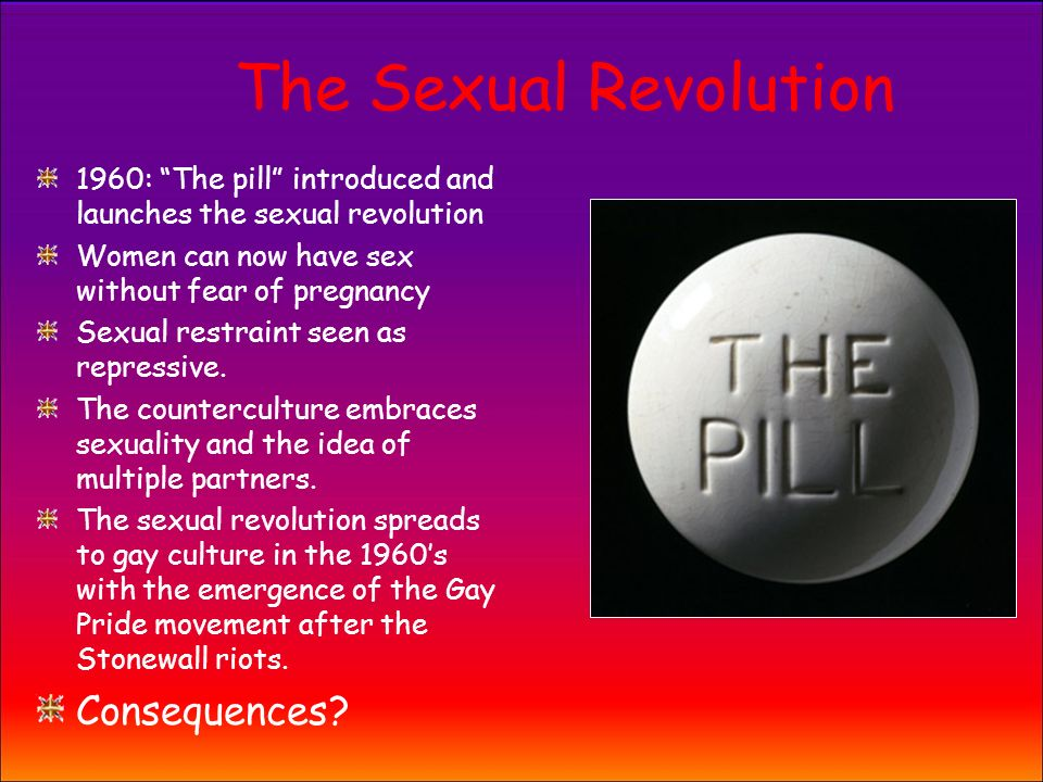The sexual revolution and the pill