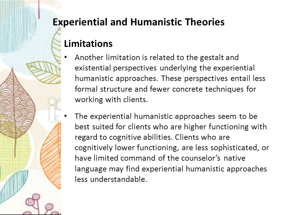facilitation theory the humanistic approach