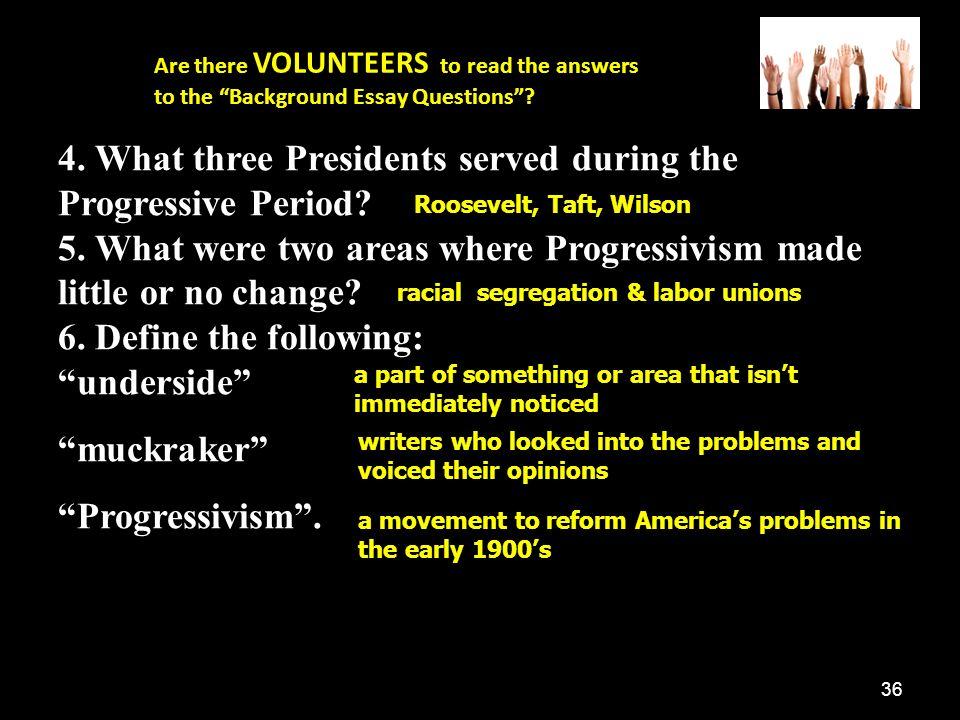 progressivism dbq