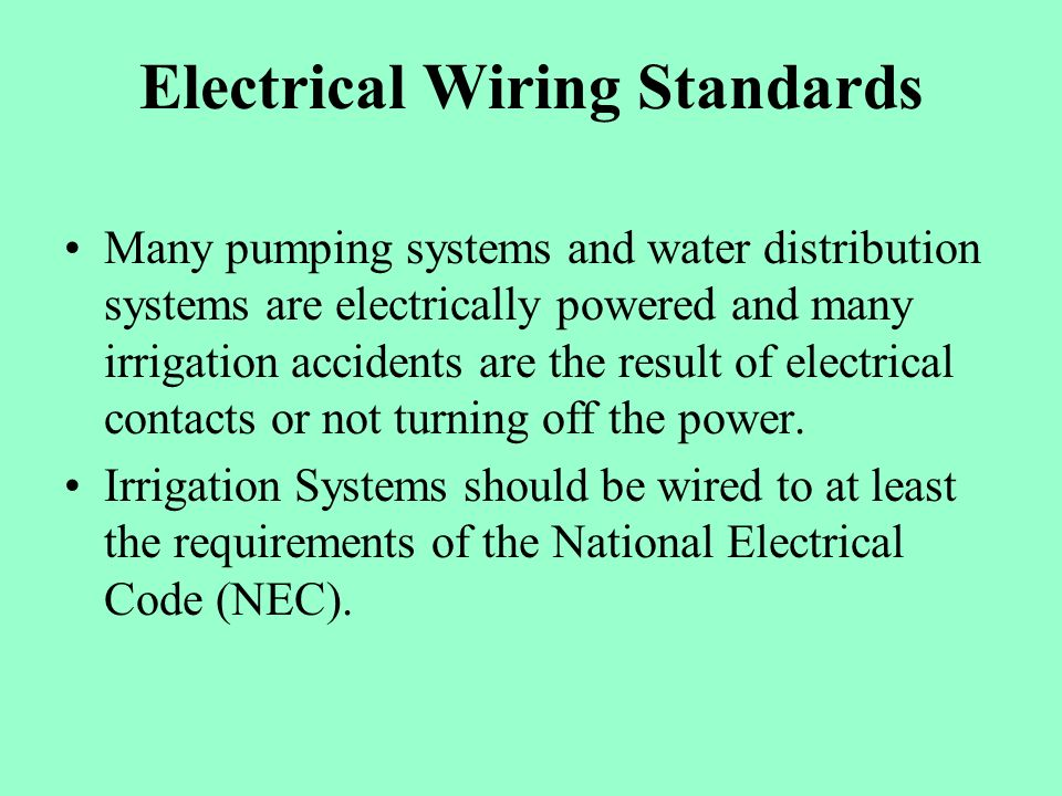 Safety Around Irrigation Systems - ppt video online download