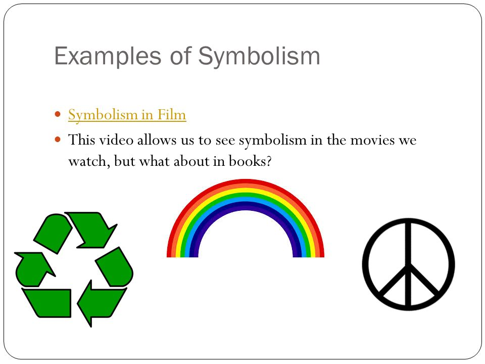 Symbolism in films powerpoint.