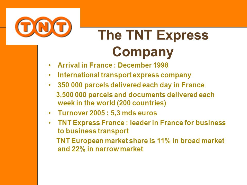 The TNT Express Company
