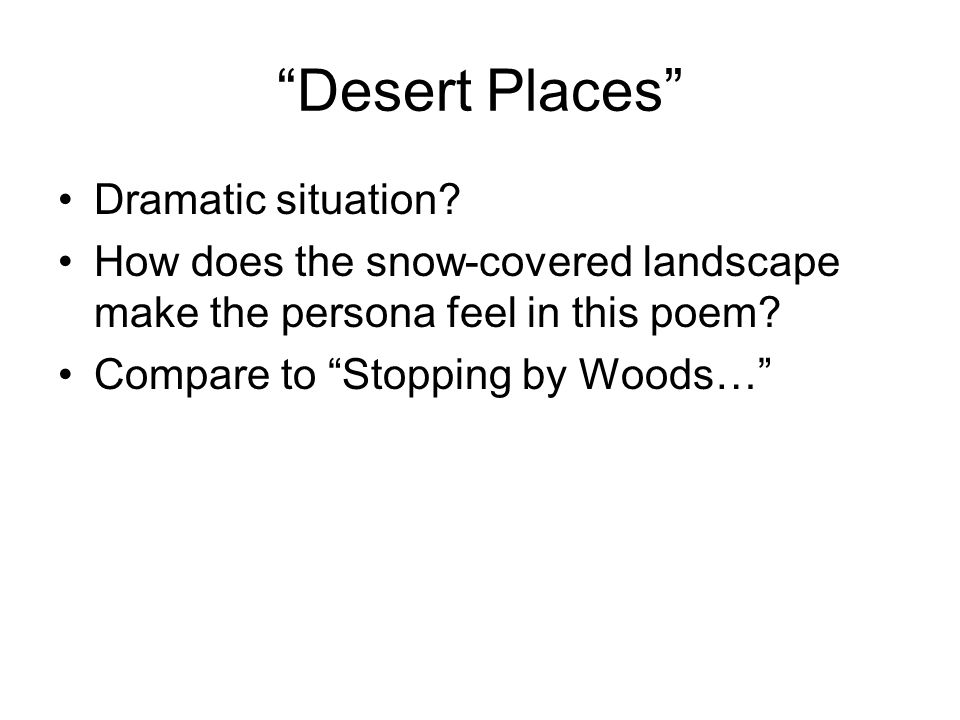 desert places robert frost meaning