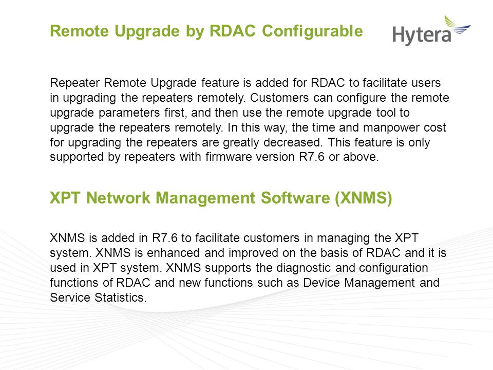 Hytera DMR Software R7 6 Version Release Introduction - ppt video