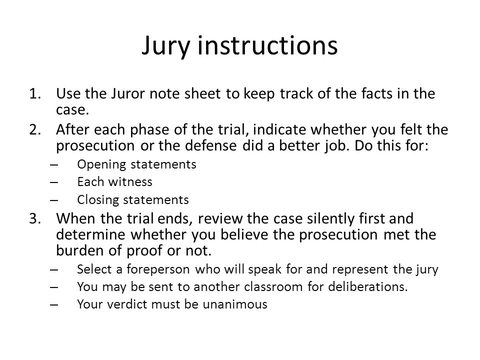 In Your Interactive Notebook Unit 310 Mock Trial Ppt Video