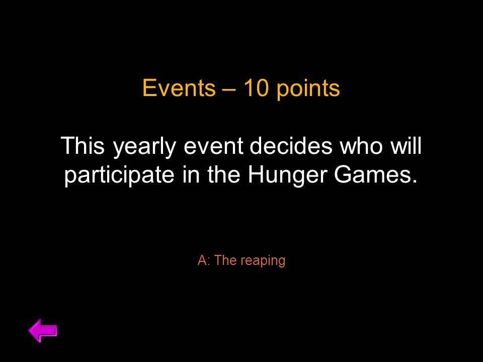 what is the reaping system in the hunger games