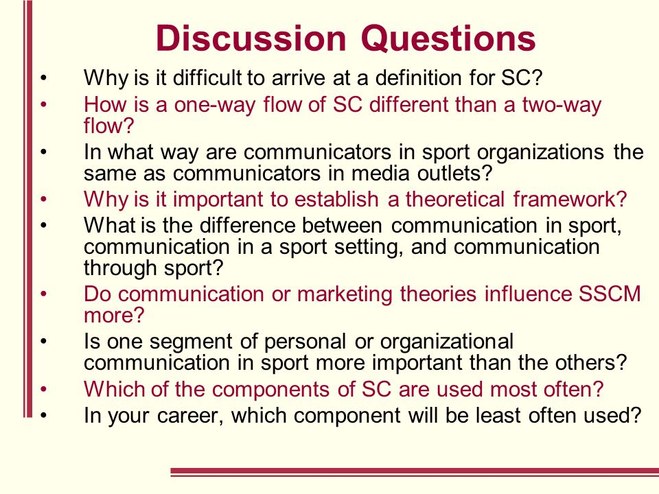 Chapter 4: Sport Communication and the Strategic Sport