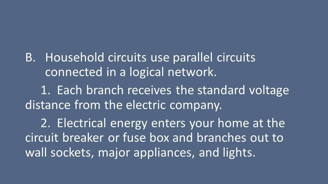 Electricity Electrical Energy Circuits Ppt Download Home Circuit Breaker Fuse Box 6 Household