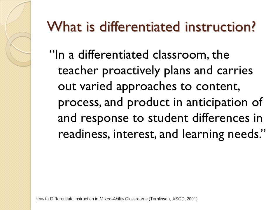 What Is Differentiated Instruction Ppt Video Online Download