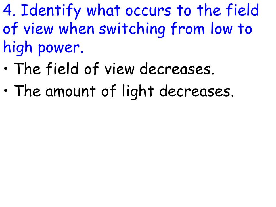 how to find the high power field of view