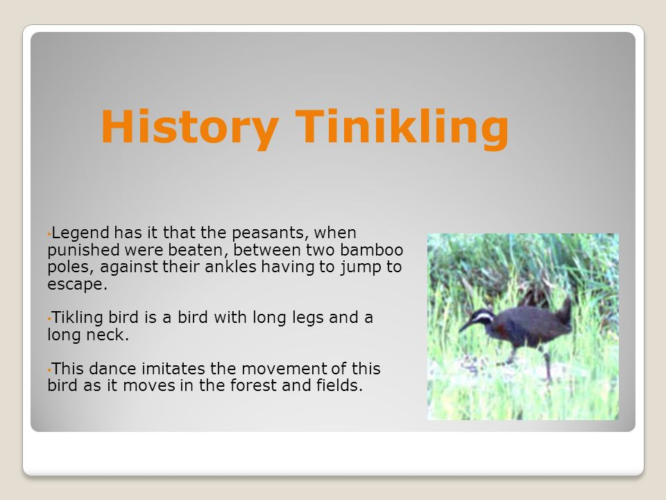 what is the history of tinikling