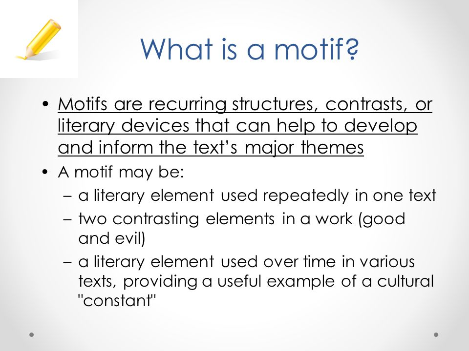 what does motif mean in literary terms