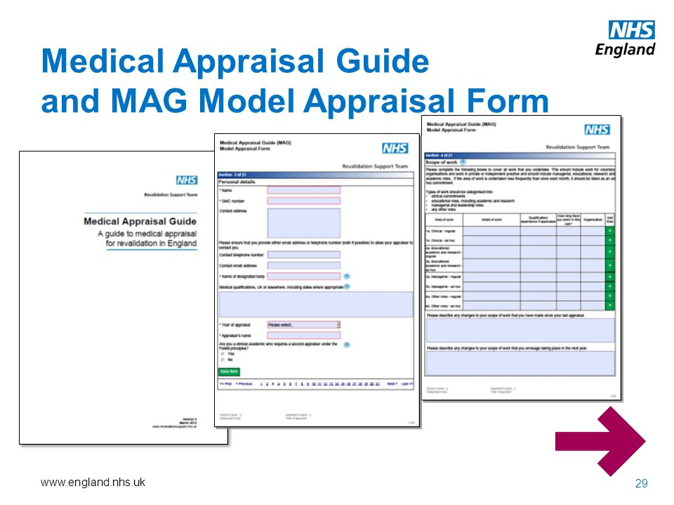 Medical Appraisal Guide Form