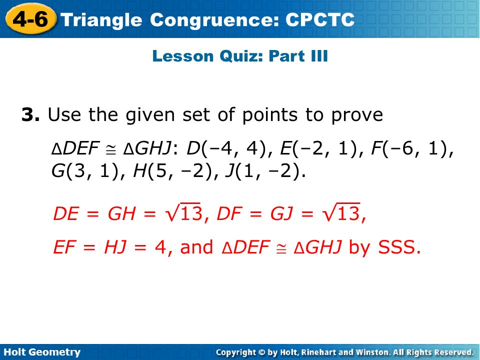 lesson 4 7 problem solving triangle congruence cpctc