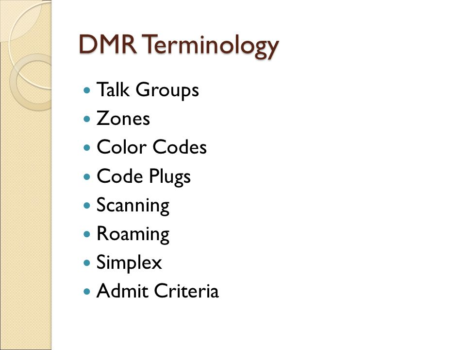 Introduction to Digital Mobile Radio (DMR) - ppt video