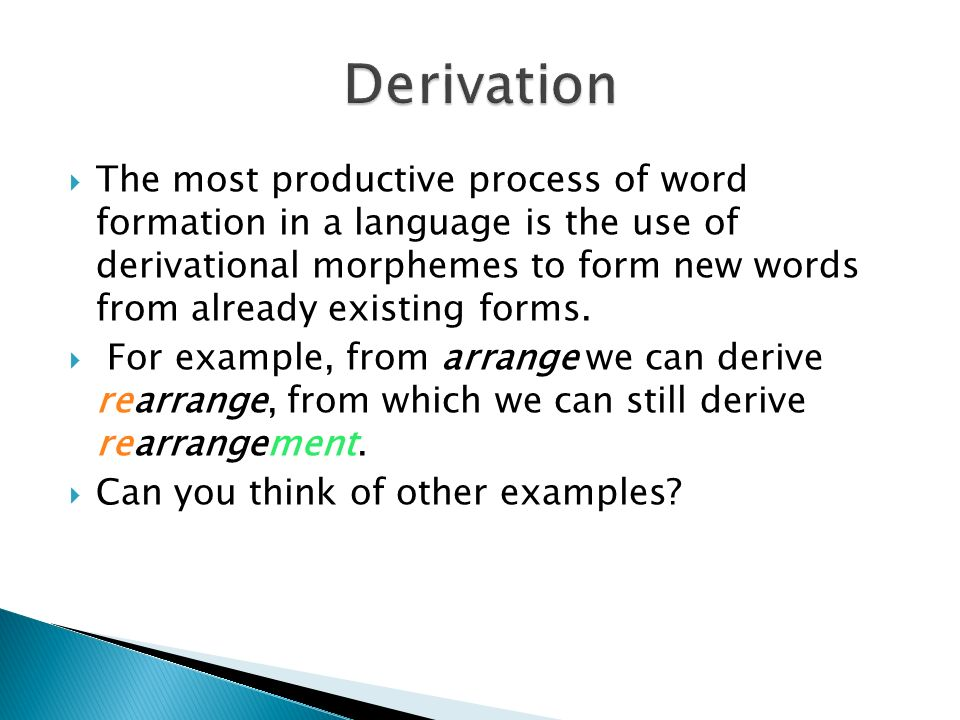WORDS AND WORD-FORMATION PROCESSES - ppt video online download