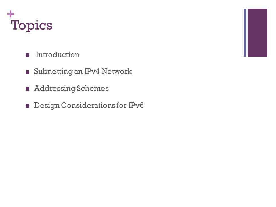Lecture#7: Subnetting IP Networks - ppt video online download