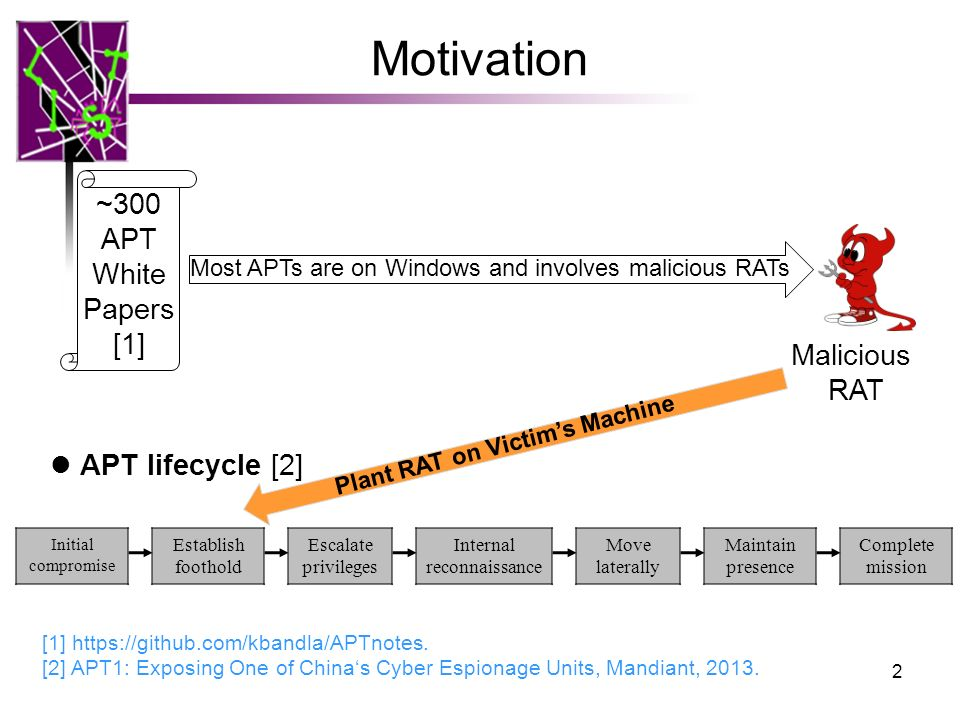 RAT-based APT Detection for Provenance Graph Analytics - ppt