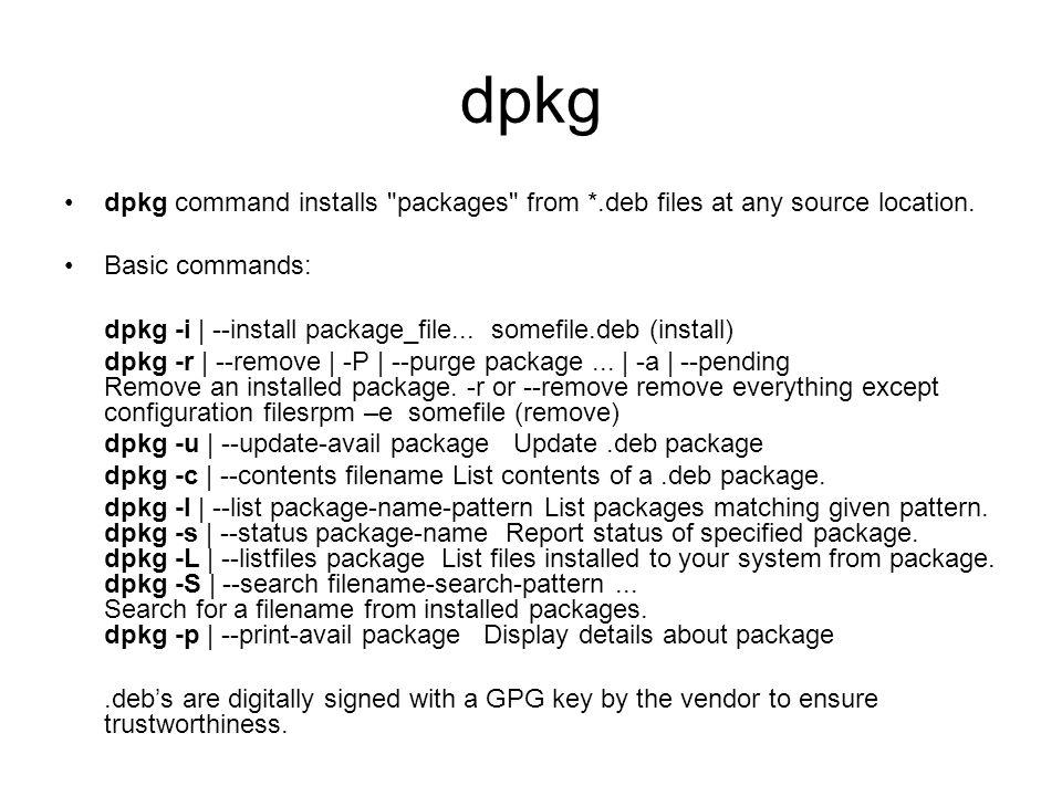 Debian Package Management - ppt download