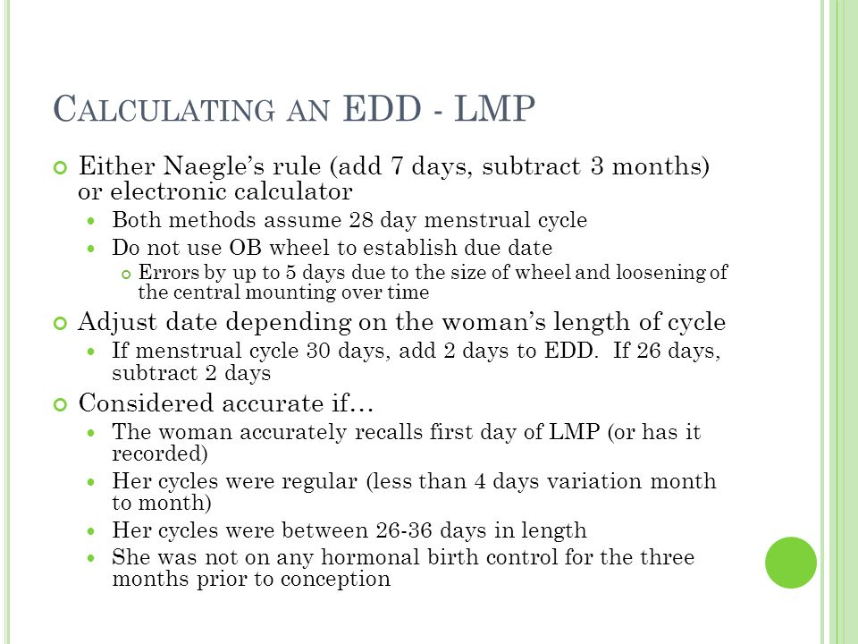 edd from lmp